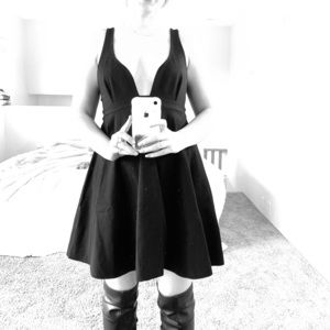 A Low Cut All Black Date Night Dress!